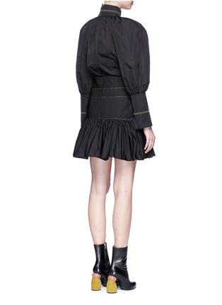 Back View - Click To Enlarge - Ellery - 'Skyward' pleated taffeta peplum dress