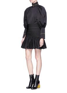 Ellery'Skyward' pleated taffeta peplum dress