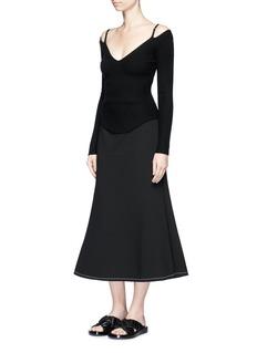 Ellery'Beedee' side gusset midi flute skirt