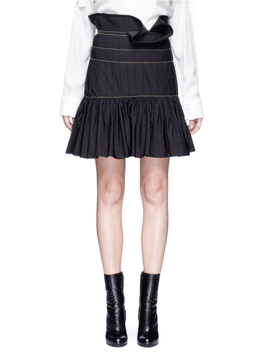 Zamira ruffle trim pleated peplum skirt by Ellery