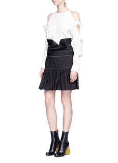 Ellery 'Zamira' ruffle trim pleated peplum skirt