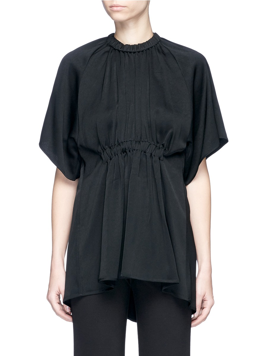 Shaman ruched crepe T-shirt by Ellery