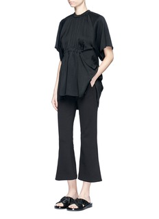 Ellery 'Shaman' ruched crepe T-shirt