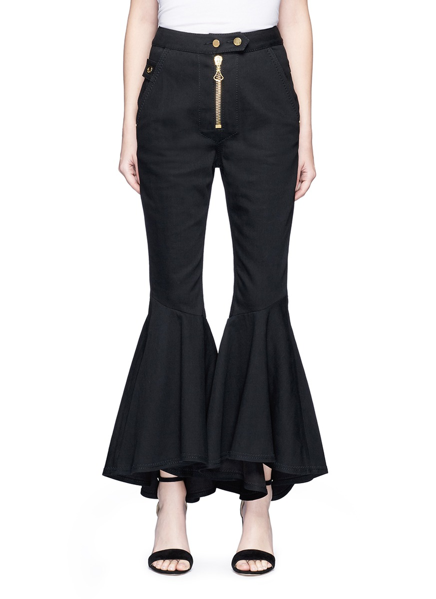 Alejandro cotton twill flared pants by Ellery