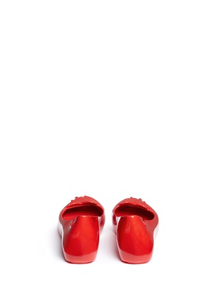 Back View - Click To Enlarge - Melissa - x Sebastian Errazuriz 'Ultragirl' heart vamp PVC flats