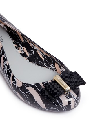 Detail View - Click To Enlarge - Melissa - x Jason Wu 'Space Love II' marble print bow flats
