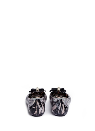 Back View - Click To Enlarge - Melissa - x Jason Wu 'Space Love II' marble print bow flats
