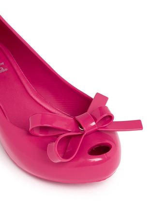 Detail View - Click To Enlarge - Melissa - 'Ultragirl Bow II' PVC kids flats