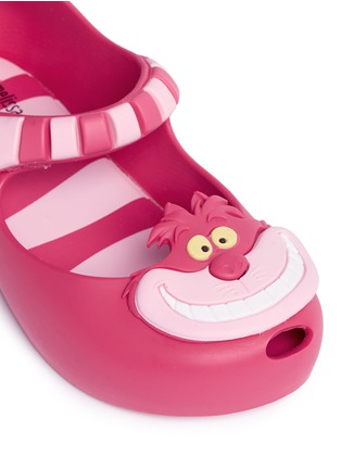 Detail View - Click To Enlarge - Melissa - x Disney 'Ultragirl' Cheshire cat appliqué toddler Mary Jane flats