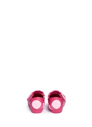 Back View - Click To Enlarge - Melissa - x Disney 'Ultragirl' Cheshire cat appliqué toddler Mary Jane flats