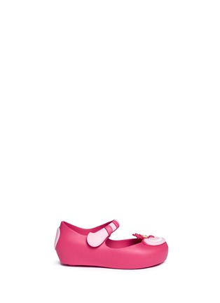 Main View - Click To Enlarge - Melissa - x Disney 'Ultragirl' Cheshire cat appliqué toddler Mary Jane flats