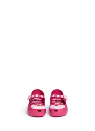 Figure View - Click To Enlarge - Melissa - x Disney 'Ultragirl' Cheshire cat appliqué toddler Mary Jane flats