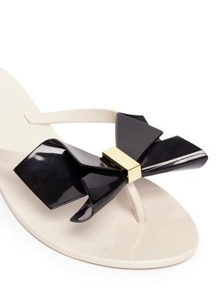 Detail View - Click To Enlarge - Melissa - 'Harmonic Bow II' butterfly front PVC flip flops