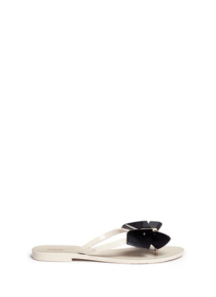 Main View - Click To Enlarge - Melissa - 'Harmonic Bow II' butterfly front PVC flip flops