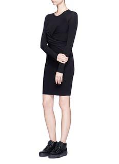 T By Alexander WangDraped front matte jersey dress