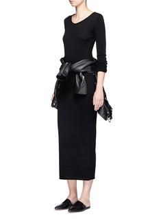 T By Alexander WangRoll neck Merino wool knit maxi dress