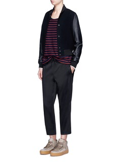 T By Alexander Wang Stretch satin drawstring trackpants