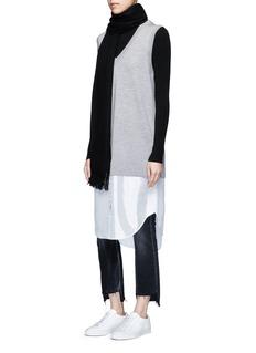 T By Alexander WangSatin hem Merino wool sweater vest dress