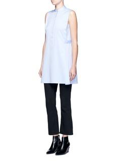 T By Alexander WangGusset side cotton twill shirt dress
