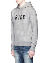 'Ride' velvet flock marl cotton hoodie
