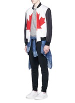 Canadian Maple Leaf print bomber jacket
