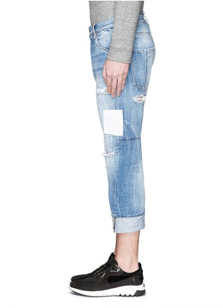 Detail View - Click To Enlarge - Dsquared2 - 'Workwear' patchwork distressed jeans