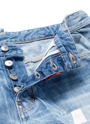 - Dsquared2 - 'Workwear' patchwork distressed jeans