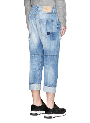 Back View - Click To Enlarge - Dsquared2 - 'Workwear' patchwork distressed jeans