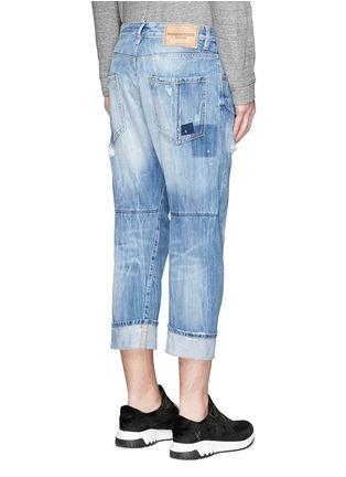 背面 - 点击放大 - DSQUARED2 - 破洞补丁翻边牛仔裤