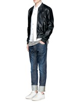 'Cool Guy' leopard print calf hair patch jeans