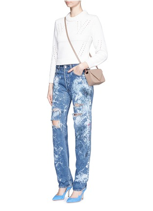 Figure View - Click To Enlarge - RIALTO JEAN PROJECT - One of a kind hand-painted splatter distressed vintage boyfriend jeans