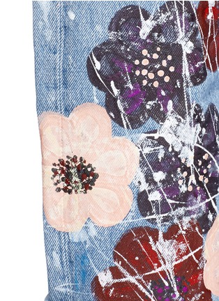 - RIALTO JEAN PROJECT - One of a kind hand-painted cherry blossom vintage boyfriend jeans