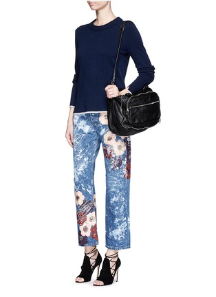 Figure View - Click To Enlarge - RIALTO JEAN PROJECT - One of a kind hand-painted cherry blossom vintage boyfriend jeans