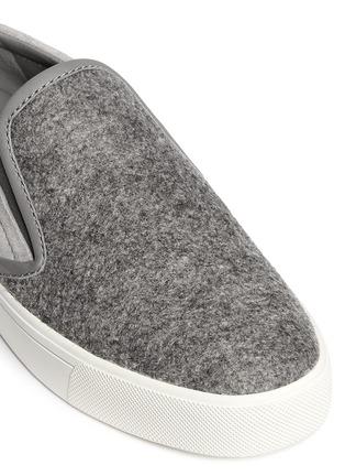 Detail View - Click To Enlarge - Vince - 'Banler' felt vamp suede skate slip-ons