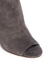 'Sierra' snakeskin suede combo peep toe ankle boots