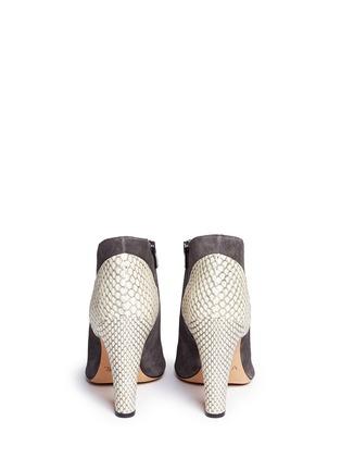 背面 - 点击放大 - Vince - 'Sierra' snakeskin suede combo peep toe ankle boots