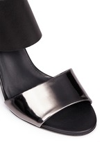 'Stephanie' mirror band stretch leather sandals