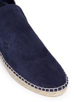 'Ronan' suede slip-on espadrille desert boots