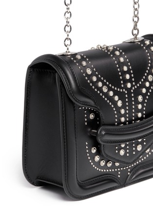 Detail View - Click To Enlarge - Alexander McQueen - 'Heroine' mini stud leather chain satchel