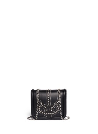 Back View - Click To Enlarge - Alexander McQueen - 'Heroine' mini stud leather chain satchel
