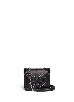 Main View - Click To Enlarge - Alexander McQueen - 'Heroine' mini stud leather chain satchel
