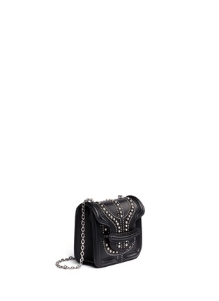 Figure View - Click To Enlarge - Alexander McQueen - 'Heroine' mini stud leather chain satchel