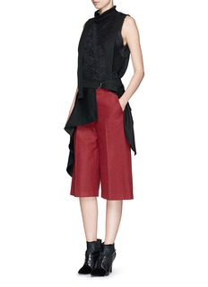 3.1 PHILLIP LIMAsymmetric suspender apron skirt
