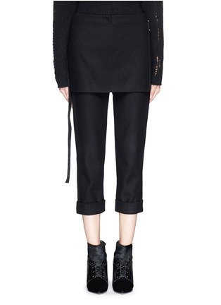 Main View - Click To Enlarge - 3.1 Phillip Lim - Apron front stitch down cuff pants