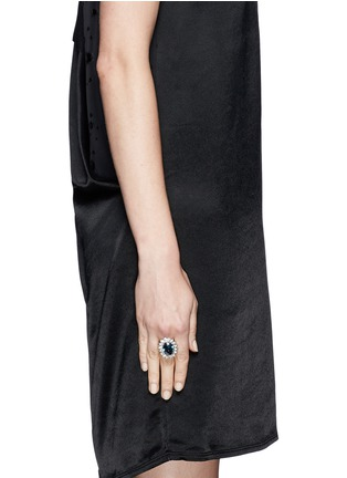 Figure View - Click To Enlarge - Kenneth Jay Lane - Sapphire crystal ring