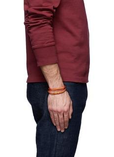 Tateossian'Soho' woven copper double wrap bracelet