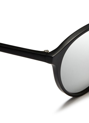 Detail View - Click To Enlarge - Spektre - 'Audacia' matte acetate mirror sunglasses