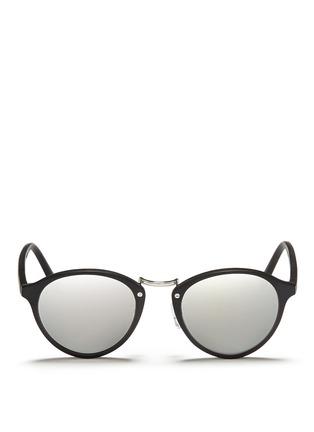 Main View - Click To Enlarge - Spektre - 'Audacia' matte acetate mirror sunglasses