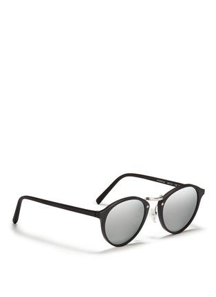 Figure View - Click To Enlarge - Spektre - 'Audacia' matte acetate mirror sunglasses