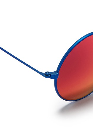 Detail View - Click To Enlarge - Spektre - 'MET-RO' lightweight round metal sunglasses